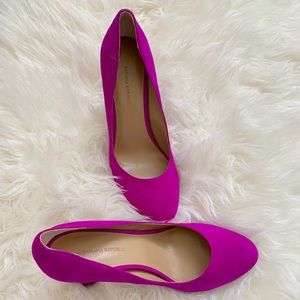 banana republic pink suede heels *brand new*